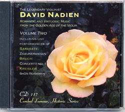 Cembal d'amour CD 117, David Nadien, Violin