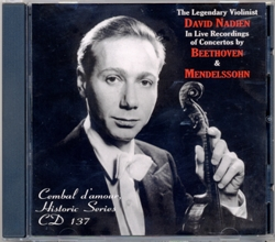 Cembal d'amour CD 137, David Nadien, Violin