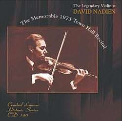 Cembal d'amour CD 140, David Nadien, Violin